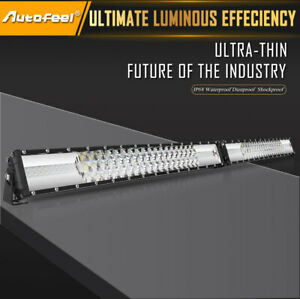Dual Row 32inch Led Light Bar 2040w Driving Offroad Flood Spot Combo Beam Pk 30