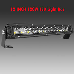 Ultra Thin 312w 10inch Led Light Bar Flood Spot Combo Offroad Suv 12 22 32 42 52
