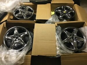 Ferrari 355 F355 Pvd Chrome Oem Speedline Wheel Set