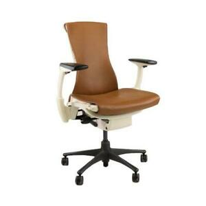 Herman Miller Embody Task Chair Recovered New Tan Leather