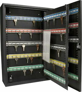 200 Key Storage Cabinet Lock Box Safe Organizer Wall Mount Large Car Lot Holder