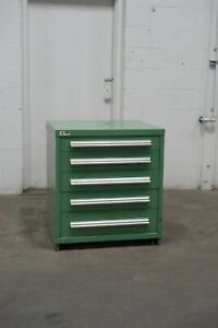 Used Vidmar 5 Drawer Cabinet 33 High Industrial Bench Storage 1700