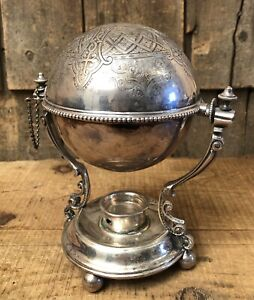 Beautiful Antique Victorian Era Silver Plated Hallmarked Egg Warmer Ornate
