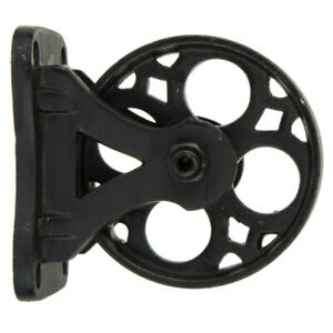 Set Of 4 4 Black Metal Caster Wheel Antique Industrial Style Decor Rustic