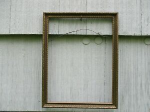 Nice Vintage Art Deco Era Gilt Wood Picture Frame W Early Glass 9 7 8 X 12 3 4