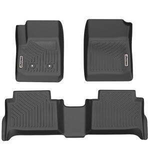 Oedro Tpe Floor Mats For 2015 2020 Gmc Canyon chevy Colorado Crew Cab Black