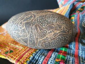Old Australian Aboriginal Kimberley Carved Boab Nut Beautiful Collection Piece