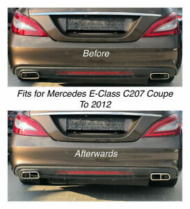 Chrome Exhaust Pipe Cover Trim Decor Mercedes E Class C207 Coupe To 2012 212