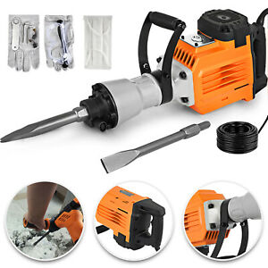 3600w Electric Demolition Jack Hammer Concrete Breaker 2 Chisel 1400rpm Hd 60j