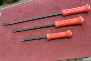 Snap on Spb24a Spba18a Spb12a Red Handle Pry Bars Free Shipping