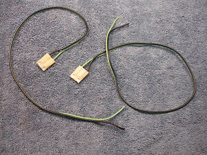 70 71 72 Chevelle Camaro Stereo Radio 8 Track Kick Panel Dash Speaker Wires