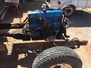 1956 Chevy Truck Running Chassis With Frame 235 6 Engine Trans Suspension More