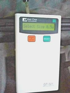 Met One Gt 321 Handheld Particle Counter 2 Gt 321 Portable Particle Counter