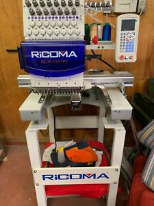 Rcm 1501pt Ricoma 1 Head 15 Needle Commercial Embroidery Machine 2013 Light Use