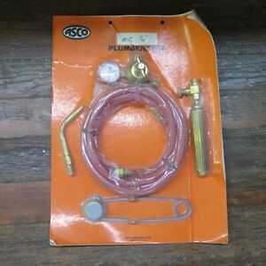Vintage Nos Asco Plumbers Kit Acetylene Air Torch Outfit Mc 3