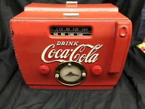 Super Rare 1949 Coca-Cola Clock Radio ORIGINAL WORKS!