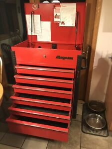 Snap On Rolling Tool Box With With Top And 3 Drawers Full Of Only Snap On Tools
