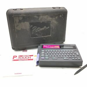 Brother P touch Electronic Label Maker Printer Pt 20 With Hard Case