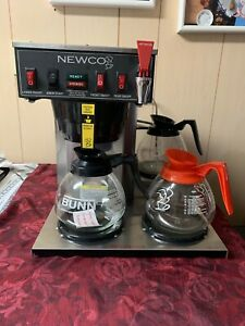 Newco Ace lp Coffee Maker Automatic Brewer W Hot Water Faucet 3 Lower Warmers