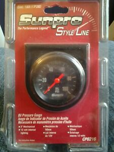 Sunpro Cp 8216 Oil Pressure Gauge 2 Black Face Mechanical