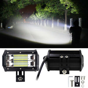 5 72w Led Car Work Light Spot Beam Suv Boat Offroad Atv 4wd Driving Lamp Bright