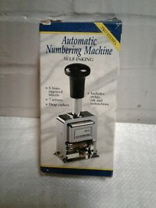 Automatic Numbering Stamp Machine With Stylus