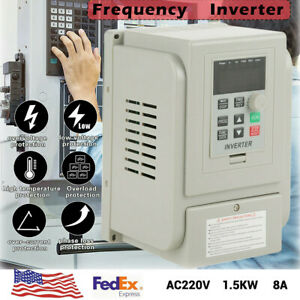 Usa 1 5kw Single Phase To 3 three Phase Output Frequency Converter Vfd Vsd 220v