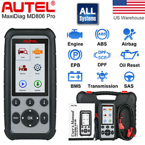 Autel Maxidiag Md806 Pro Auto Diagnostic Scanner Test Read Clear Codes Tool