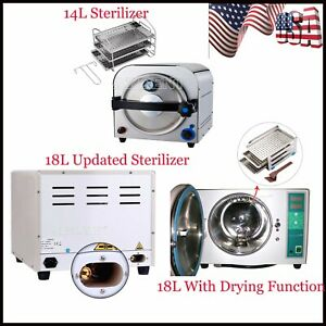 14l 18l Dental Steam Autoclave Sterilizer Med Sterilization With Drying Function