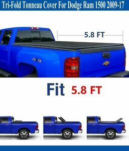 Tri fold Tonneau Cover For 2009 2019 Dodge Ram 1500 5 8ft 69 6in Bed
