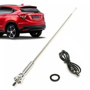 Universal Car Metal Roof Fender Booster Antenna Fm Am Radio Aerial Extended