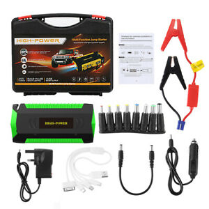 Car Jump Starter 89800mah 4 Usb Led Emergency Battery Booster Power Bank Usa