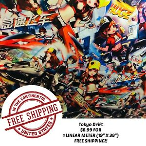 Hydrographic Water Transfer Hydro Dipping Film Tokyo Drift 1m 19 X 38