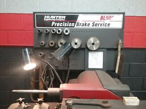 Hunter Engineering Bl 505 Brake Lathe With Accessories