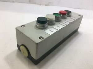 5 Button Electric Pushbutton Switch Conrol Station