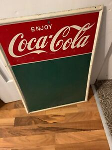 VINTAGE COCA COLA COKE MENU BOARD CHALK BOARD 28 INCHES TALL RESTAURANT