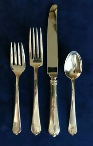 Watson Lotus Sterling Silver 4 4 Piece Place Settings 16 Piece Set