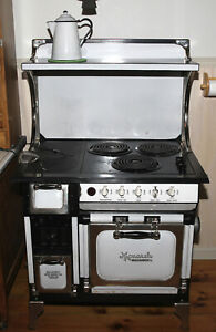 Antique Monarch Wood Coal Electric Stove Restored