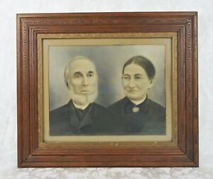 Antique 19th Century Victorian Charcoal Portrait Painting Frame Fits 20x16