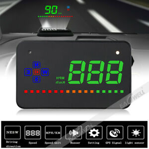 A2 Universal Gps Hud Speedometer Head Up Display Mph Km H Car Over Speed Alarm