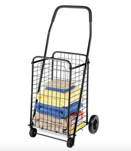 Personal Shopping Cart Apartment Trolley Fold Up Rolling Market 4 Wheel Utility