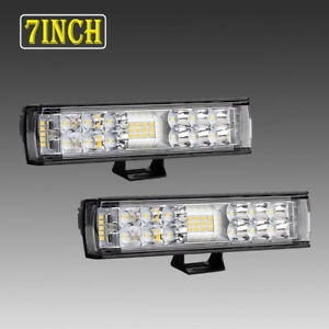 2x 7inch 816w Led Work Light Bar Offroad Driving Lamp 4wd Atv Spot Flood Suv 6