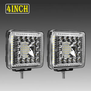 2x 6inch 816w Led Work Driving Light Bar Combo Beam Lamp Reverse Offroad Atv 4x4