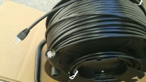 300ft Pro Cat6tactical Shielded W neutrik Ethercon Rj45 Booted Cable On Reel