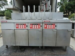Deep Fryer Commercial vulcan 3 Basin Heated Pan Work Area Gas Model Sgrc 45