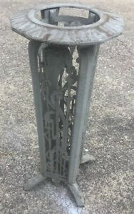Antique 1920 S Art Deco Cast Iron Fern Stand Side Table
