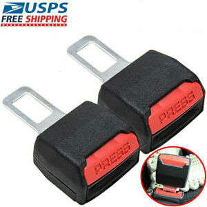 1 Pair Universal Car Seat Safety Belt Buckle Extender Clip Alarm Stopper