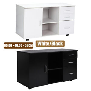 3 drawer 1 Door Mobile Rolling File Cabinet Locking Drawer Furniture Office Home