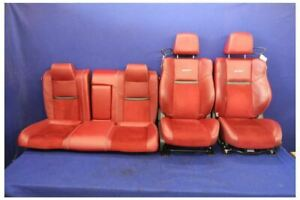 2011 2014 Dodge Challenger Srt8 Srt Oem Red Leather Challenger Seats Front Rear