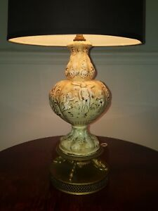 Capodimonte Table Lamp Antique Italian Painted Porcelain